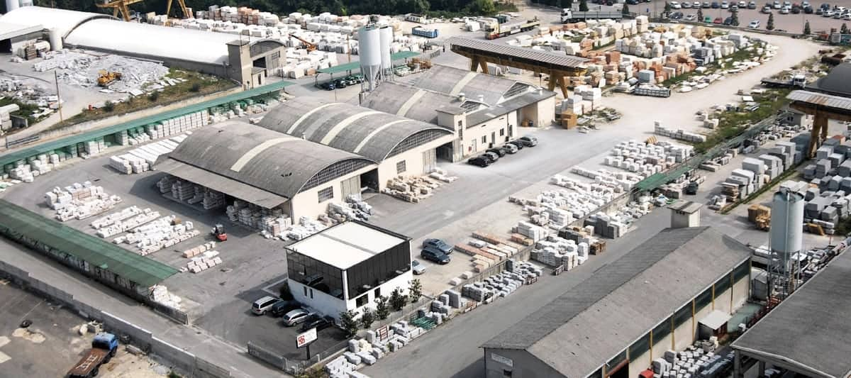 magazzino a deposito aziendale Veneta Marmi