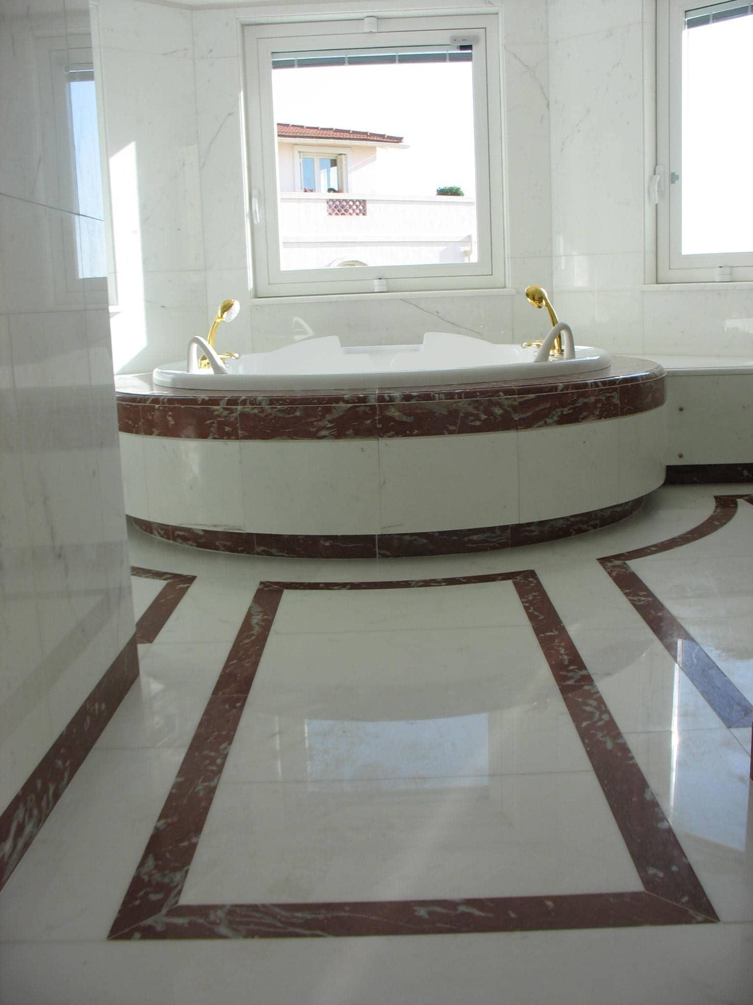 Marmo rosso francia marmo - Bagno marmo bianco ...
